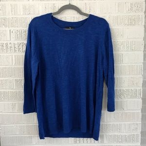 Gap blue sweater 3/4 length sleeve lightweight